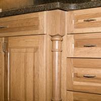 Hicory cabinety with decorative column