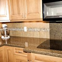 Silestone countertop and tiled backsplash