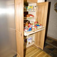 Pantry with 100 lb. rollouts