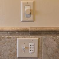 Bath fan and speaker controls