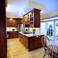 Center island frameless cabinetry