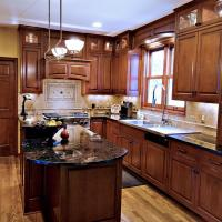 Wide view of the kitchen