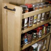 Spice drawer roll-out